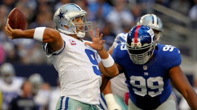 Cowboys Trail Giants 23-10 After Ugly First Half