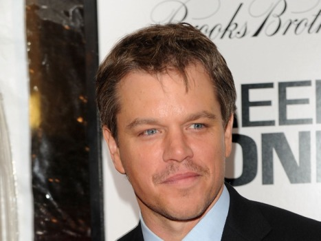 "Matt Damon Shows ""True Grit"" With Mustache"