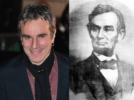 "Daniel Day-Lewis Is Abraham Lincoln in Spielberg's ""Team of Rivals"""