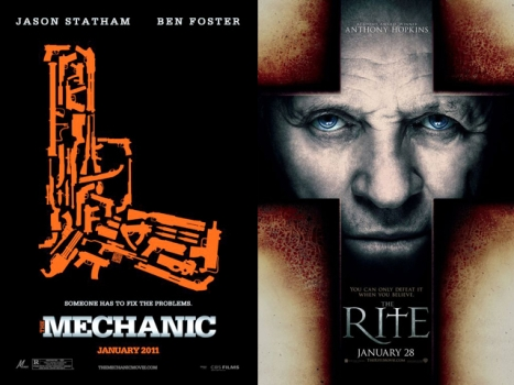 "This Week's New Movies: Will ""The Mechanic"" Do ""The Rite"" Thing?"