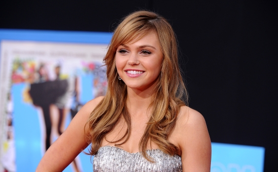 "Aimee Teegarden Lights Up ""Prom"""