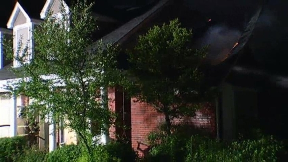 Fort Worth House Catches Fire After Lightning Strike