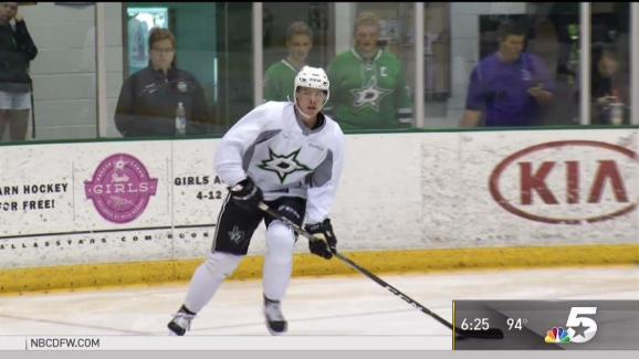buy online 581e0 c874d Heiskanen Hits the Ice at Stars Development Camp