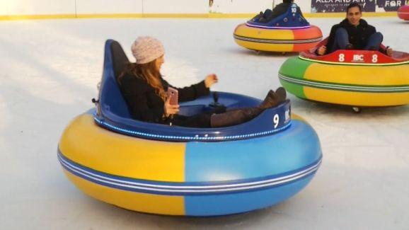 Ice Bumper Car Attraction Makes Debut Nbc 5 Dallas Fort Worth