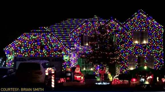 crazy christmas lights in north texas