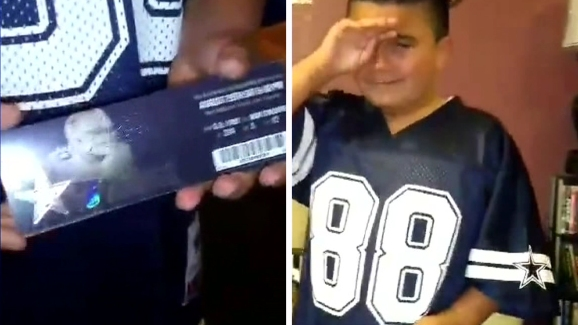 Cowboys Fan Overjoyed by 9th Birthday Gift