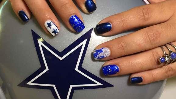 Silver and blue cowboys nail art nbc 5 dallas fort worth silver and blue cowboys nail art prinsesfo Image collections