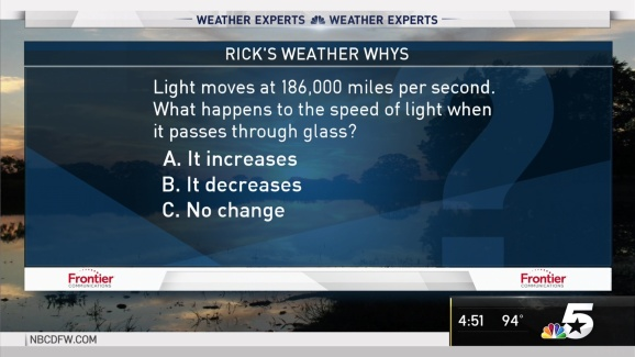 Weather Quiz: Speed of Light