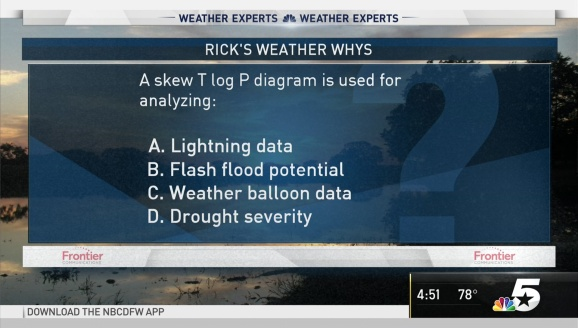 Weather Quiz: Skew T Log P Diagram