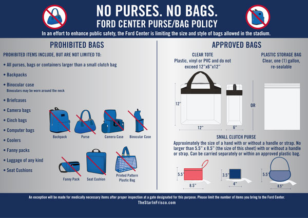 Cowboys Nfl Revise En Bag Policy At T Stadium