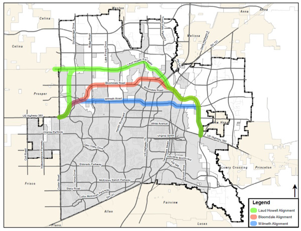 McKinney Homeowners Ready To Fight Against Bypass NBC - Mckinney texas us map