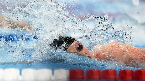 Franklin, Lochte Struggle Against Rising Stars