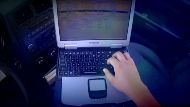 Police Group Studying Officer Distracted Driving