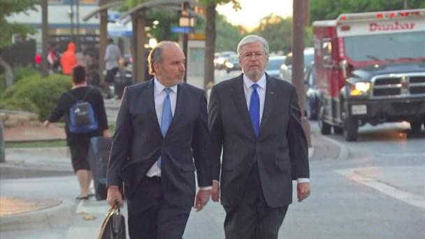 Raw: Fmr. DCS Board President Arrives for Sentencing