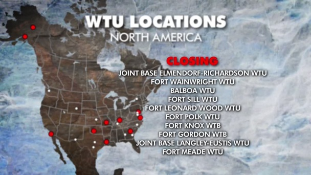 Army Closing 10 WTUs; Three in Texas Will Stay Open