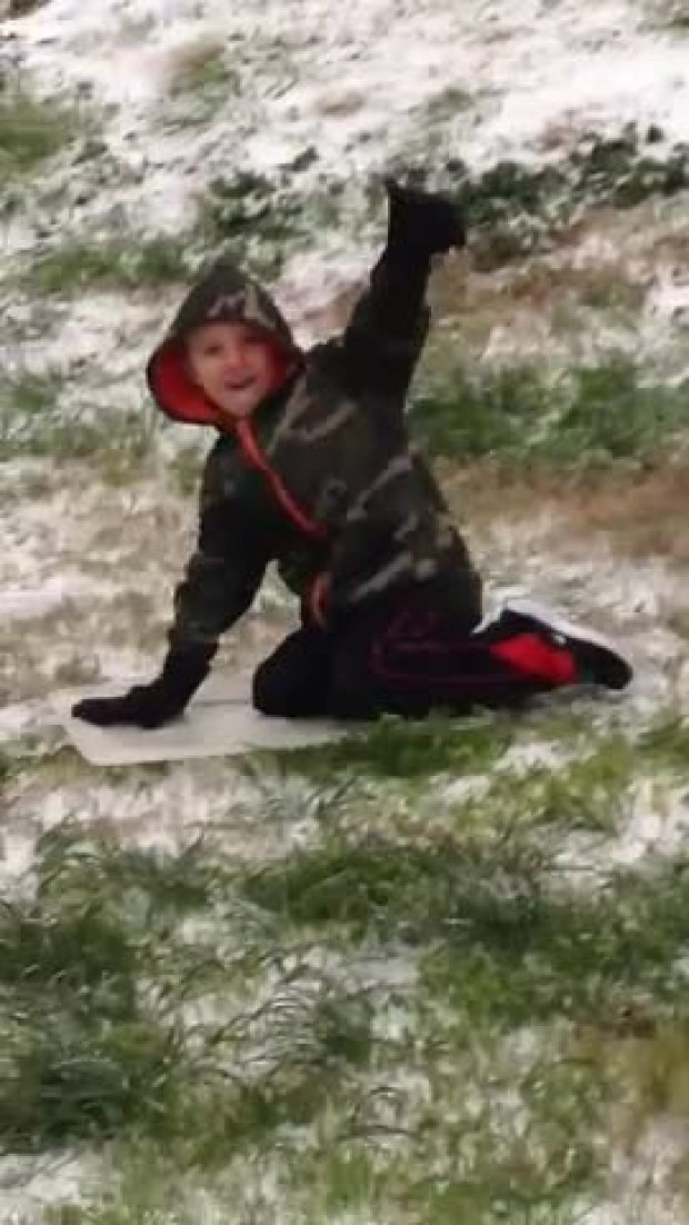 Sledding in Forney