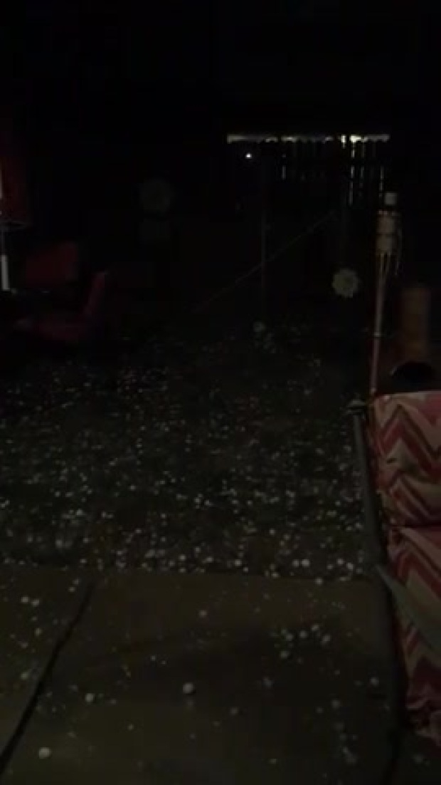Hailstorm in Little Elm