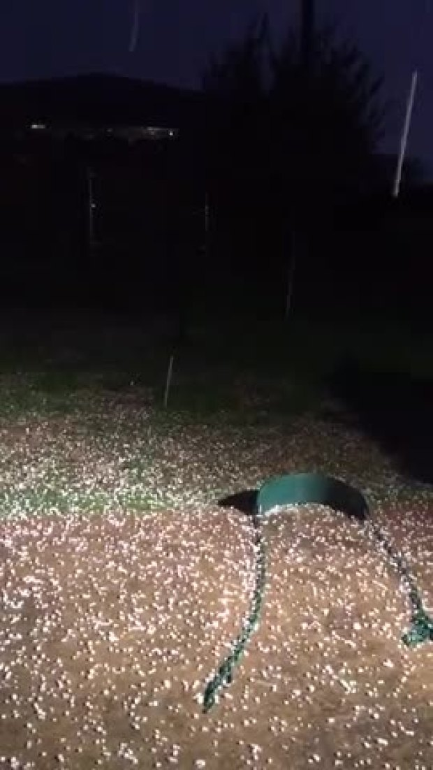 Hail in south Arlington/Mansfield
