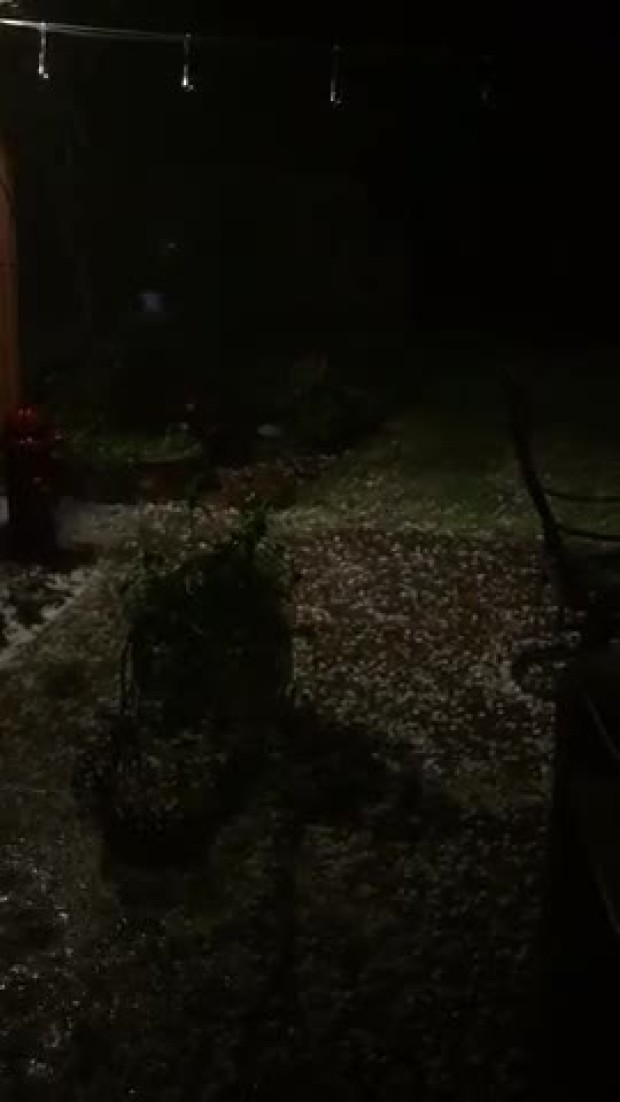 hail north  dallas just now
