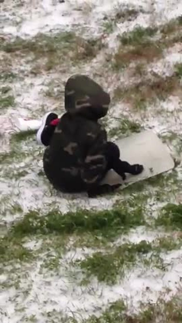 Sledding in Forney 2