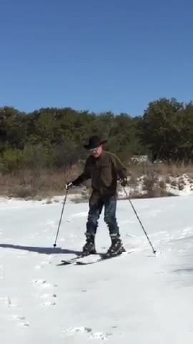 Cowboy skiing in Texas