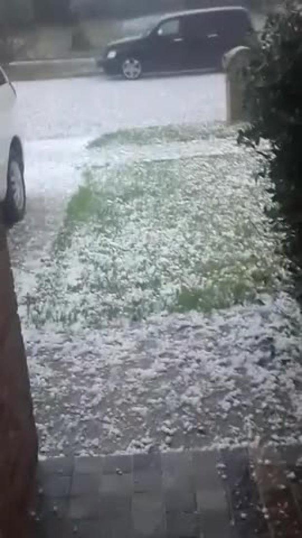 Hail in Arlington