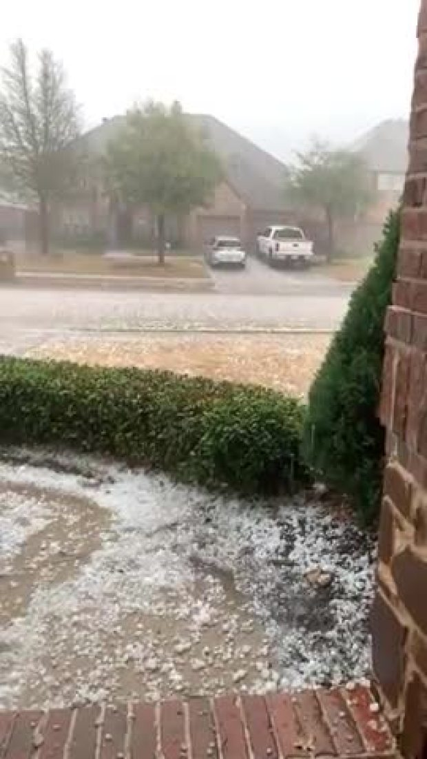 Hail in Frisco