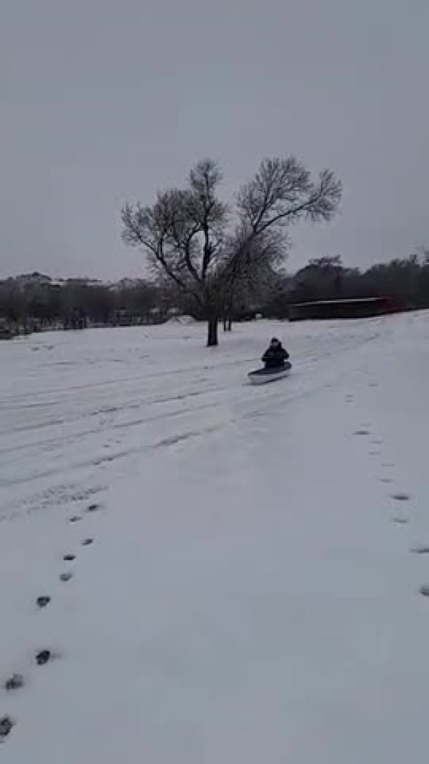 Kayak Sledding