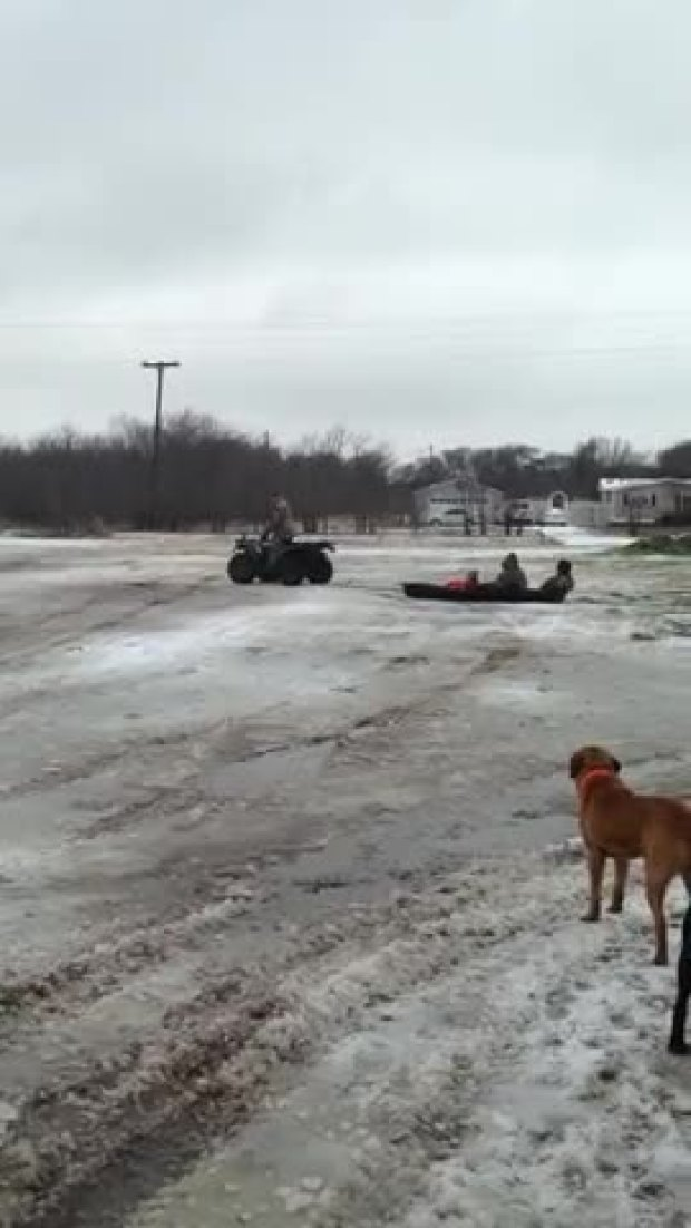 ATV Sledding in Royse City