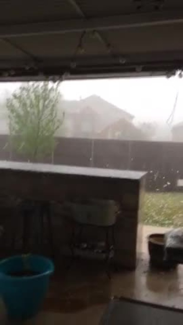 hail storm from murphy tx