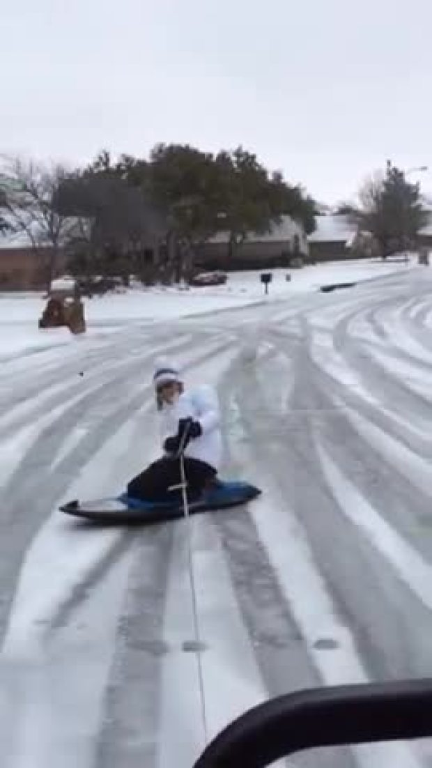 Snowboarding Texas style