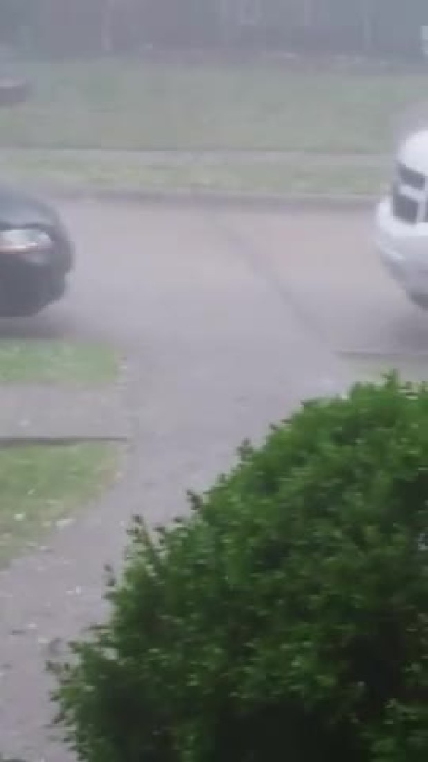 Hail video in Frisco