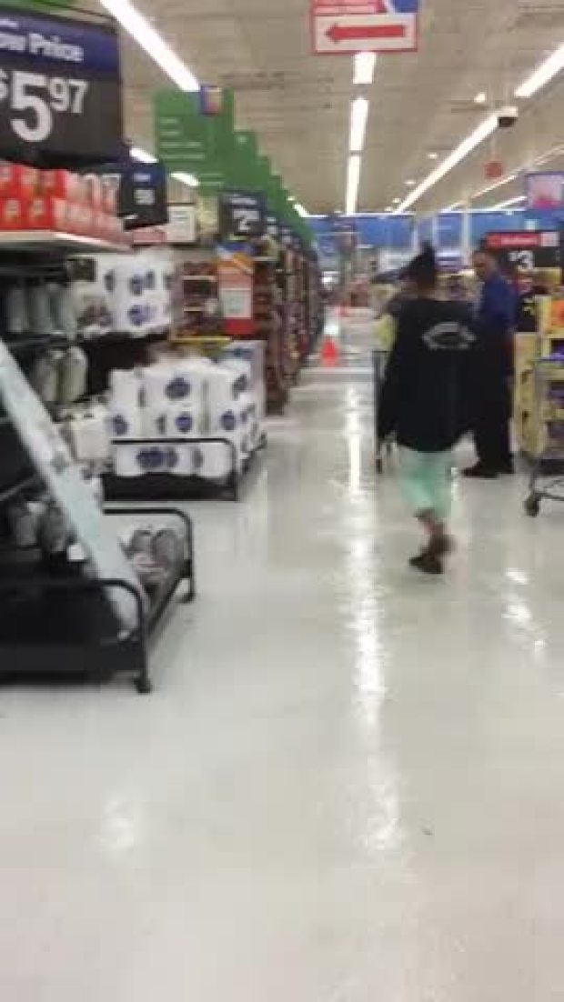 Lavon Walmart after terrifying hailstorm