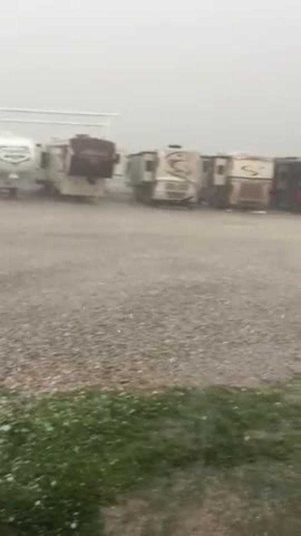 Hail Storm - Crandell Motor Sports 7833 N I-35 Denton Tx