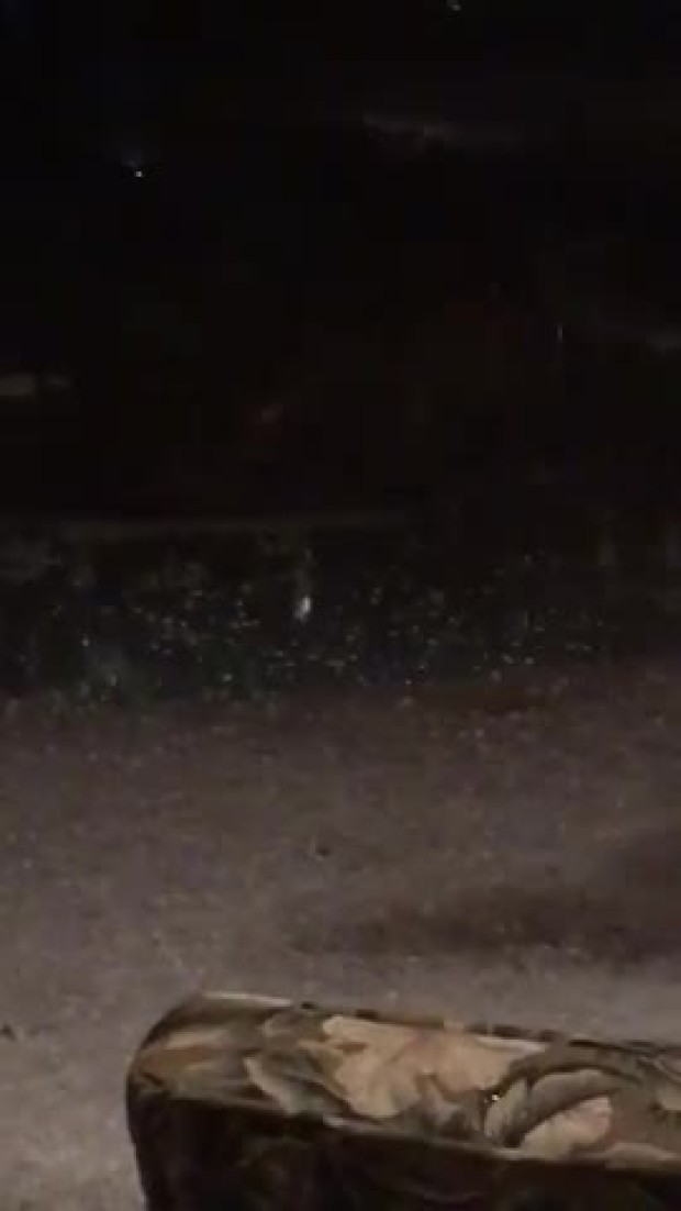 Hailstorm video of my house in Plano
