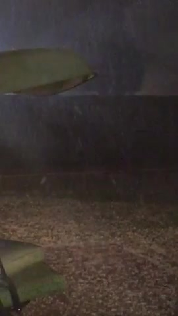 Hail video and photo