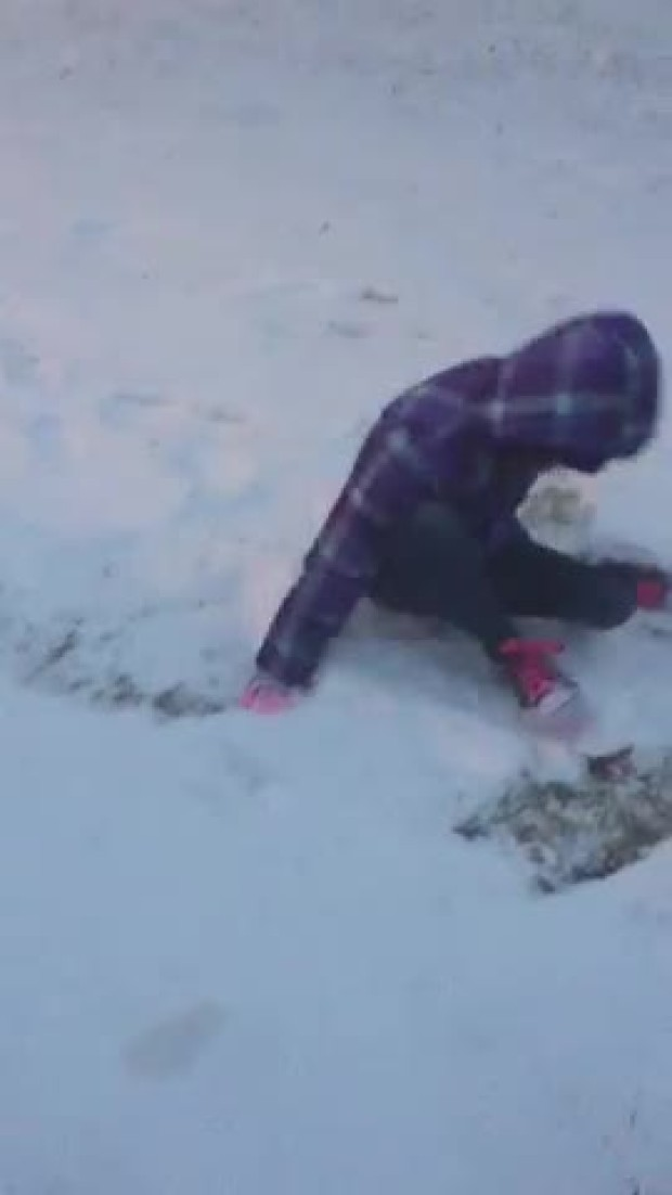 snow angel in Burleson