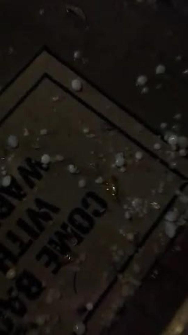 Hail in SW Fort Worth. West to Edgecliff Village.