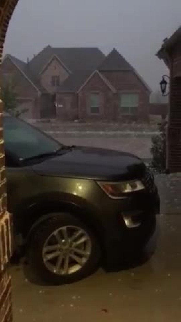 Video during hail storm