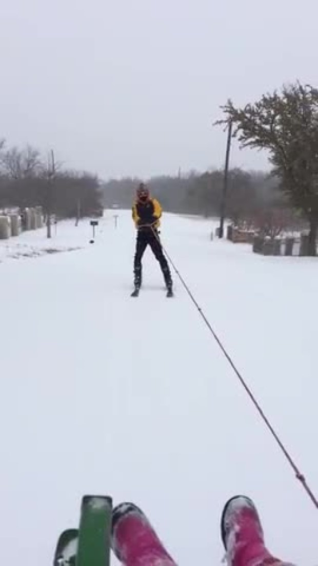 Redneck Texas Skiing