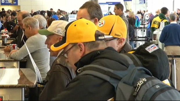 [DFW] DFW Airport Super Busy with Super Bowl Fans
