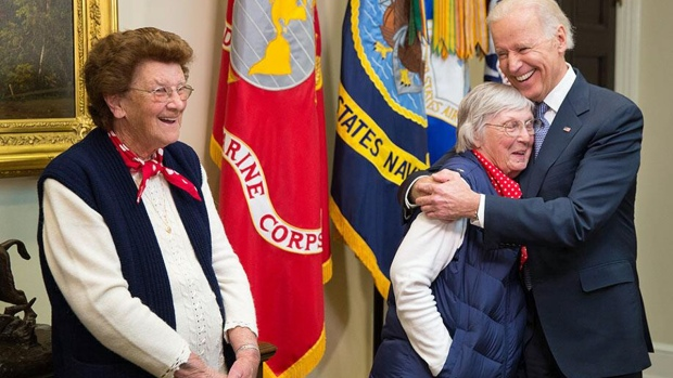 [BAY] Rosies Get Hugs from Vice President Joe Biden