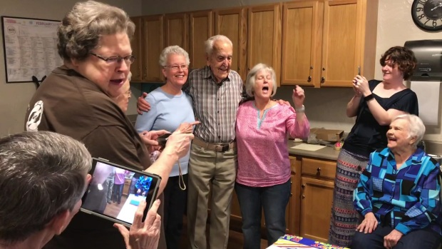 [DFW] Friends and Family Celebrate Ernie Lacroix's 100th Birthday