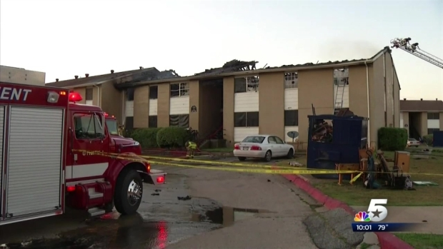 [DFW] Apartment Fire In White Settlement Displaces 49