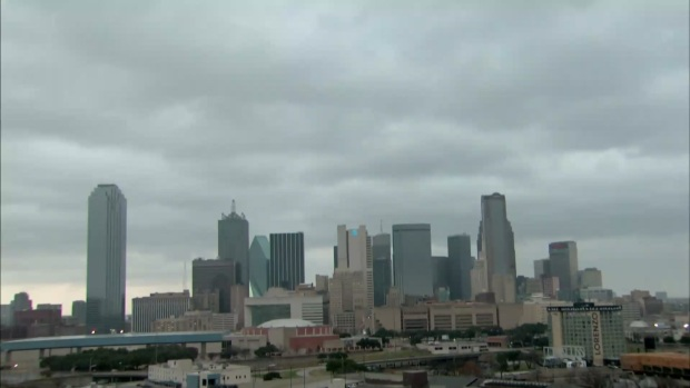 Time Lapse: Showers Move in to Dallas