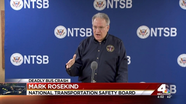 [LA] No Sign That Truck Braked Before Crash With Bus: NTSB