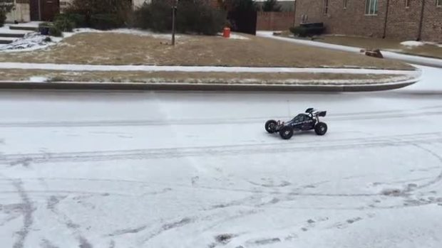 RC Car Drives Safely on Texas Ice