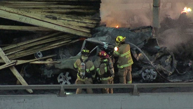 18-Wheeler Catches Fire on I-20 in Dallas, 2 Dead