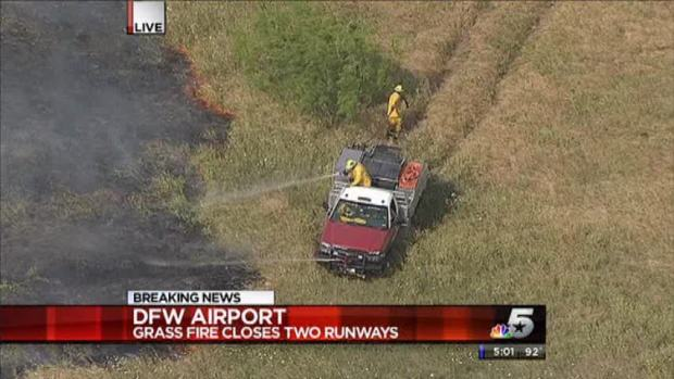 [DFW] Grass Fire at DFW Airport Closes Runways