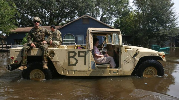Texas Military Department Leads Rescue Effort After Hurricane Harvey
